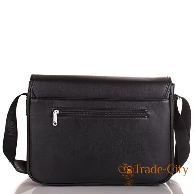 Мужская сумка-почтальонка из качественного кожзаменителя BONIS (SHIL8101-black)