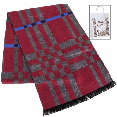 Мужской шерстяной двухсторонний шарф ETERNO (183 на 30 см)