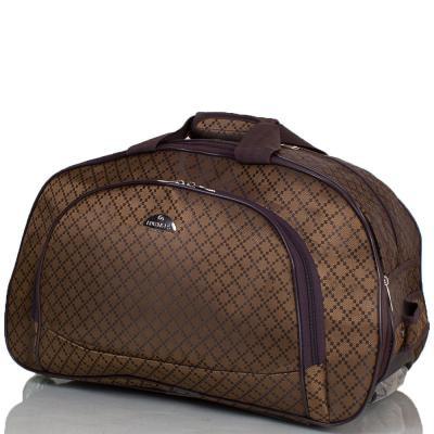 Небольшая дорожная сумка на 2-х колесах RUIXINGDA brown