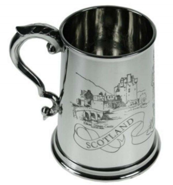 Пивная кружка с шотландской гравюрой