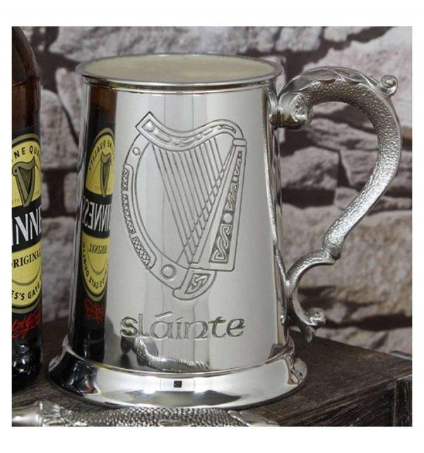 Пивной бокал (танкард) «Ирландская арфа»