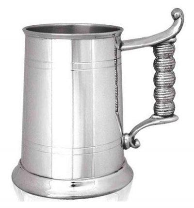 Пивной бокал (танкард) с ручкой-канатом