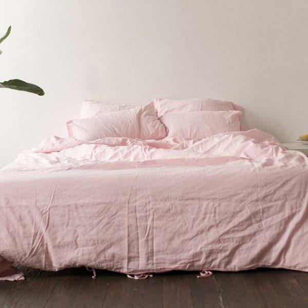 Полуторный комплект постельного белья Etnodim розового цвета