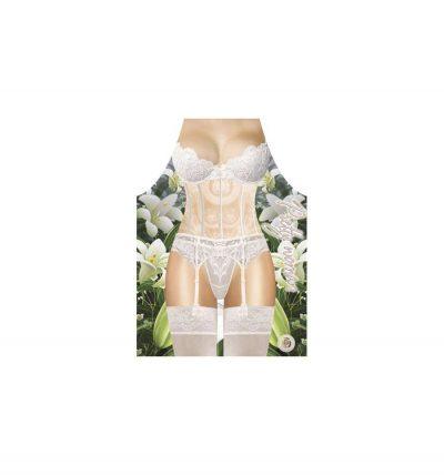 Прикольный фартук «Девушка в белом белье»