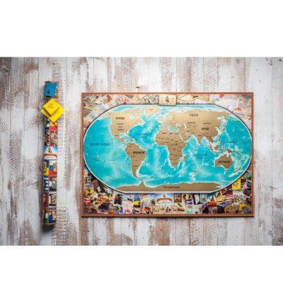 Самая большая скретч-карта мира My Vintage Map RU/UA