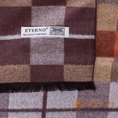 Шерстяной двухсторонний мужской шарф ETERNO (177 на 30 см)