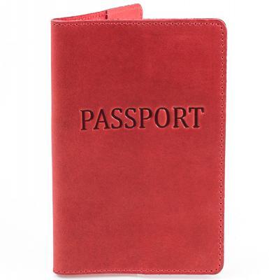 Женская кожаная обложка для паспорта DNK LEATHER (DNK-Pasport-Hcol.H)