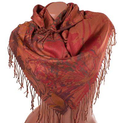 Женский двухсторонний платок из пашмины OZSOY AKSESUAR (91 на 85 см)