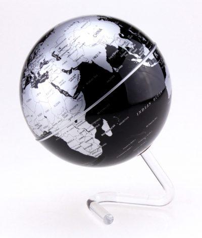 Глобус вращающийся «Политическая карта», черный с серебром