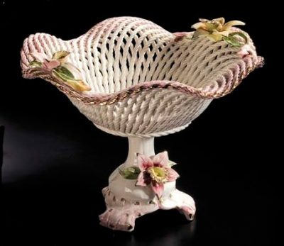 Блюдо круглое на ножке «Spring Flowers» Lanzarin Ceramiche