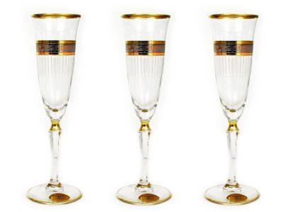 Бокалы для шампанского «Monica» Art Decor (6 шт.)
