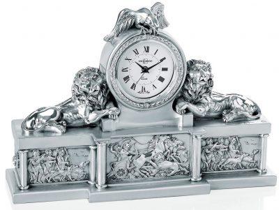 Часы настольные «Львы и орел» Linea Argenti