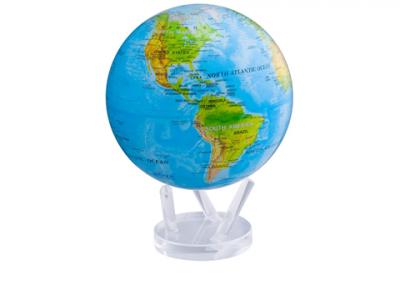 Глобус самовращающийся «Физическая карта» Mova
