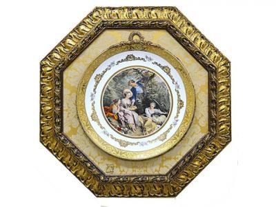 Картина на фарфоре «Беседа» Italia Cornici в раме