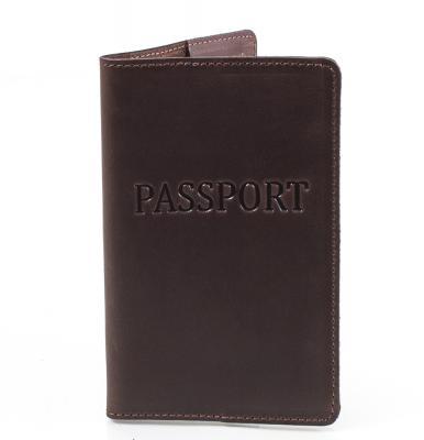 Мужская кожаная обложка для паспорта DNK LEATHER (DNK-Pasport-Hcol.F)