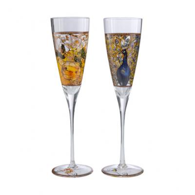 Набор бокалов для шампанского «Parakeet & Peacock» Goebel