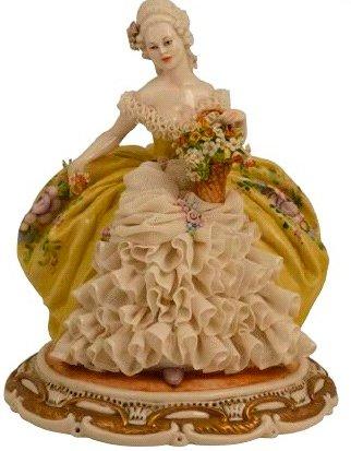 Статуэтка «Дама с цветами» Porcellane Principe