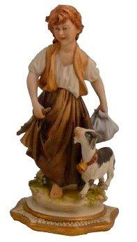 Статуэтка «Девочка с козленком» Porcellane Principe