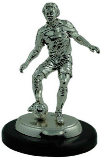 Статуэтка «Футболист» Exetera Argenti на черной деревянной подставке