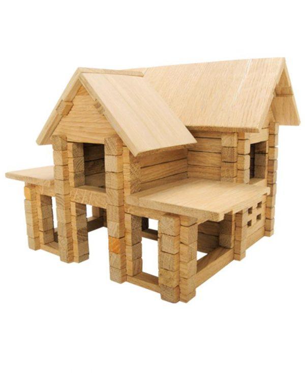 Деревянный конструктор «Коттедж с мансардой», 126 деталей
