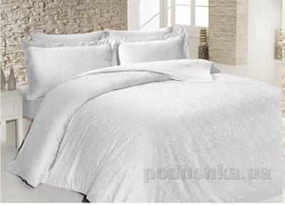 Комплект постельного белья SoundSleep Sarmasik White сатин-жаккард