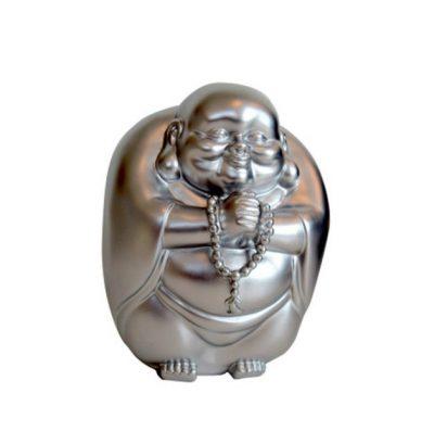 Копилка «Счастливый Будда», серебристая