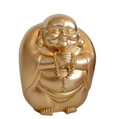 Копилка «Счастливый Будда», золотистая