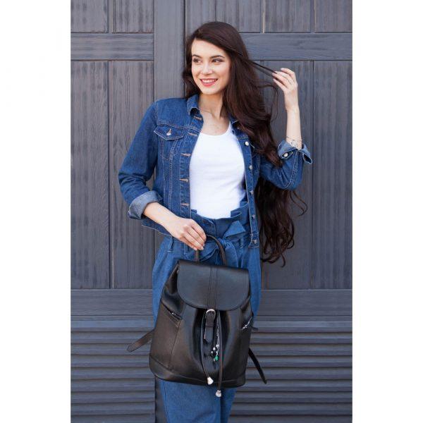 Кожаный рюкзак «Олсен оникс» Blanknote