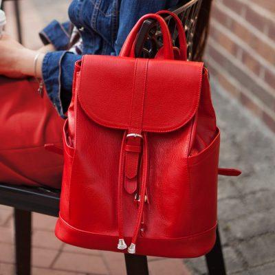 Кожаный рюкзак «Олсен рубин» Blanknote