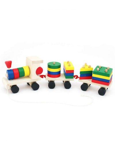Маленький деревянный паровозик ТМ «Мир деревянных игрушек»