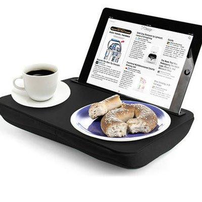 Подставка для закусок и планшета «Домашний iPad», черная