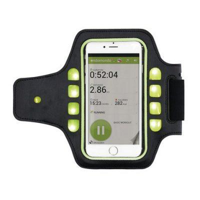 Спортивный чехол для телефона на руку с LED подсветкой