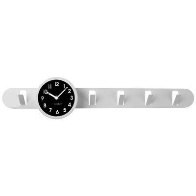Вешалка с часами «Времечко», белая