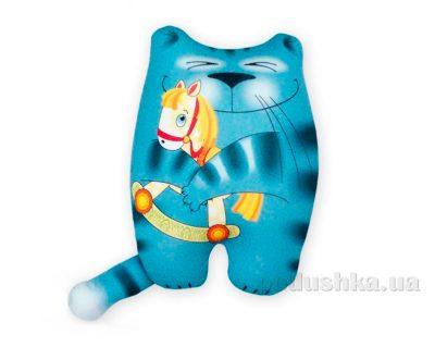 Антистрессовая подушка-игрушка «Кот с лошадкой» ТМ Штучки