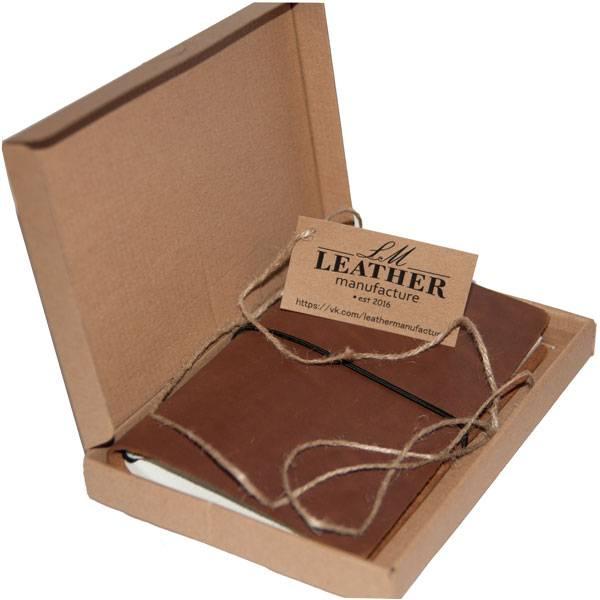 Кожаный блокнот LM (коричневый)