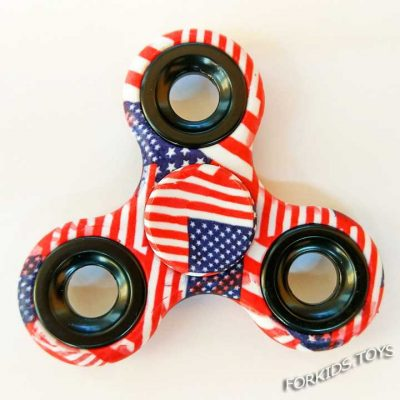 Спиннер цветной с принтом USA Hand Spinner