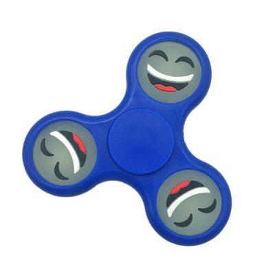 Спиннер фосфорный синий Smile Hand Spinner