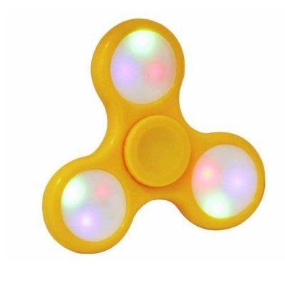Спиннер Hand Spinner желтый с подсветкой LED светящийся