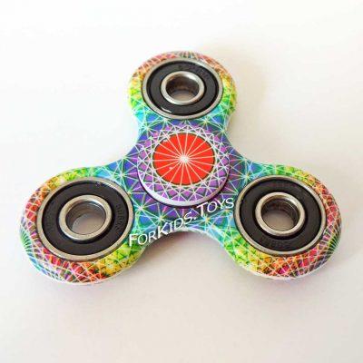 Спиннер керамический цветной Widget Spinner с рисунком