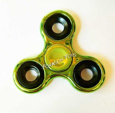 Спиннер металлический зеленый Hand Spinner хромированный