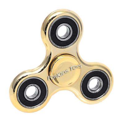 Спиннер металлический золотой хромированный Hand Spinner