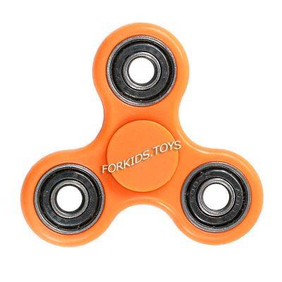 Спиннер оранжевый пластиковый Hand Spinner