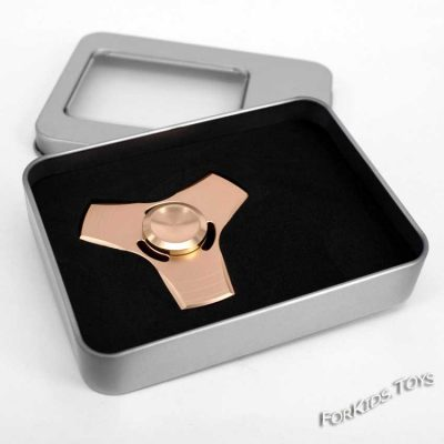 Спиннер «Пропеллер» золотой в коробке (металл)