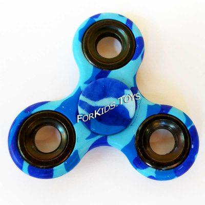 Спиннер с принтом «Камуфляж» голубой Hand Spinner