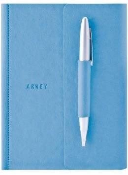 Блокнот Arwey «Flavin» (голубой с ручкой)