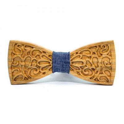 Деревянная галстук-бабочка Bow tie decor с узором (GBDH-8345)