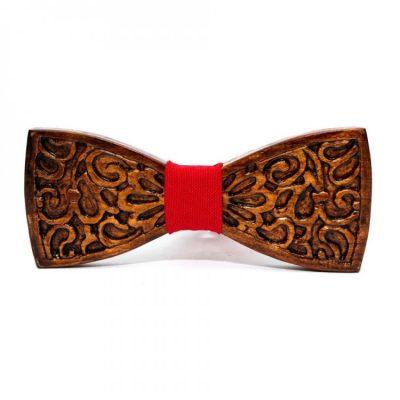Деревянная галстук-бабочка Bow tie decor с узором (GBDH-8344)