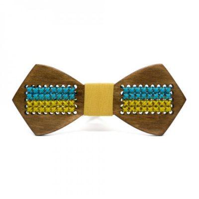 Деревянная галстук-бабочка Bow tie decorс флагом Украины