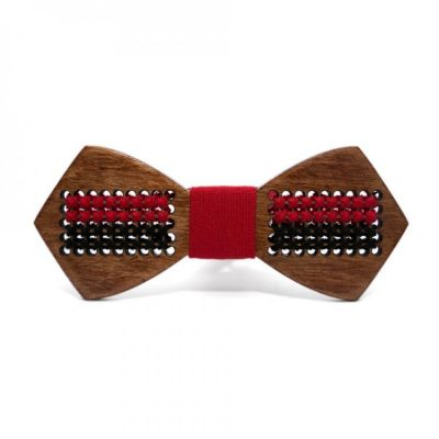 Деревянная галстук-бабочка с флагом УПА Bow tie decor