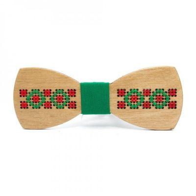 Деревянная галстук-бабочка с классической вышивкой Bow tie decor
